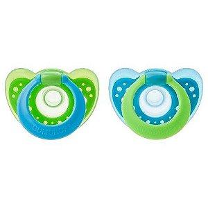 Chupeta Gumdrop Calmante 3+ Meses Azul/Verde (2 unidades) - The Firts Years