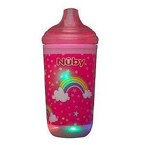Copo Térmico Infantil Pisca Pisca com Bico Rígido Rosa - Nuby