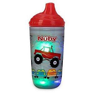 Copo Térmico Infantil Pisca Pisca com Bico Rígido Vermelho - Nuby