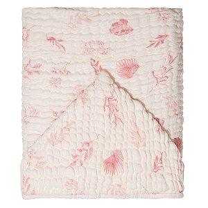 Toalha de Banho Soft Bamboo Mami com Capuz Folhagem Rosa - Papi Baby
