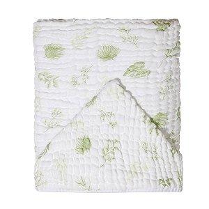 Toalha de Banho Soft Bamboo Mami com Capuz Folhagem Verde - Papi Baby