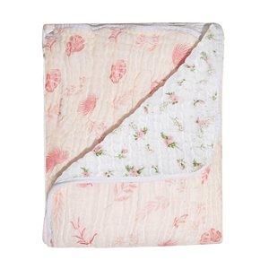 Cobertor Soft Bamboo Mami Folhagem Rosa - Papi Baby