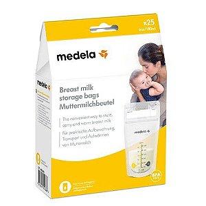 Bolsa para Armazenamento de Leite Materno Storage Bags com 25 Unidades - Medela