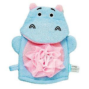 Esponja Infantil para Banho Hipopótamo - Clingo