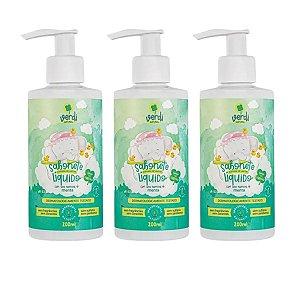 3 UNIDADES - Sabonete Vapor Bath Descongestionante para o Banho do Bebê - Verdi Natural