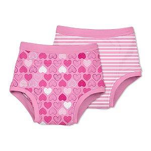 Kit Calcinhas de Treinamento para Desfralde Pink Heart - Green Sprouts