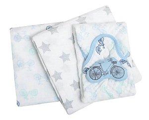 Kit Presente Cueiro e Naninha Papi Soft com 03 Peças Pedal - Papi Baby