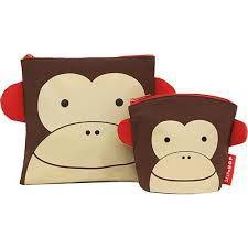 Saquinhos para Lanche Reutilizáveis ZOO Macaco - Skip Hop