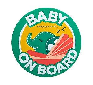 Adesivo de Silicone para Vidro de Carro Baby On Board Elefante - Marcus & Marcus