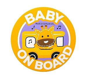 Adesivo de Silicone para Vidro de Carro Baby On Board Girafa - Marcus & Marcus