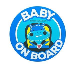 Adesivo de Silicone para Vidro de Carro Baby On Board Hipopótamo - Marcus & Marcus