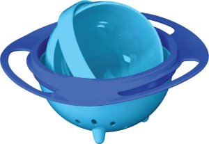 Prato Mágico Giratório 360 graus para Bebês e Crianças - Azul