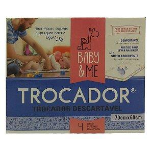 Trocadores Descartáveis e Absorventes (04 unidades) - Baby & Me