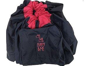 Tapete de Brincar que vira Bolsa - Azul + Pink - Baby & Me