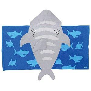 Toalha de Praia e Piscina com Capuz Tubarão - Stephen Joseph