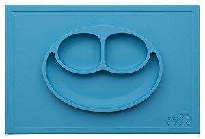 Jogo Americano com Prato Acoplado Happy Mat Azul - EZPZ