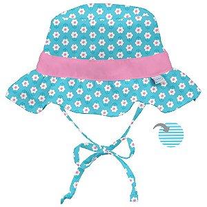 Chapéu de Banho Infantil com FPS +50 Margarida Azul - iPlay