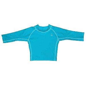 Camiseta Infantil de Banho com FPS 50+ Manga Longa Azul Claro - iPlay