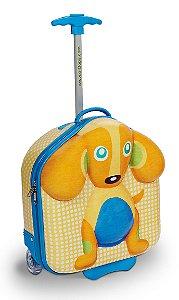 Mala Infantil com Rodinhas Cachorro Happy - Oops