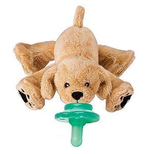 Pelúcia Prendedor de Chupeta Universal Paci Plushies Cachorro Rufus - Nookums