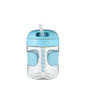Copo Infantil com Canudo Anti Vazamento 210ml - Azul - Oxo Tot