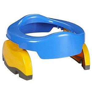 Potette Plus 2 em 1 - Privadinha Portátil e Redutor Sanitário - Azul e Amarelo
