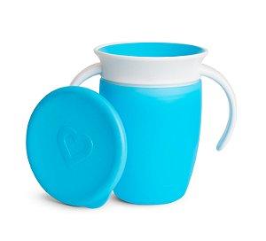 Copo de Treinamento 360 com Tampa (Miracle Cup) Azul - Munchkin
