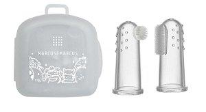 Kit 2 Dedeiras de Silicone Massageadora para Bebês - Marcus & Marcus