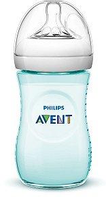 Mamadeira Avent Pétala Anti-Cólica 260ml 1+ Meses Azul Turquesa - Philips Avent