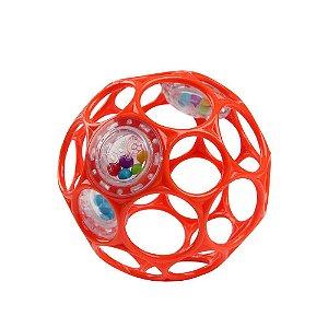 Bola Oball Gelatina com Mini Chocalhos Vermelho - Bright Stars