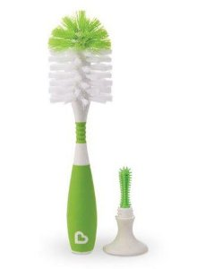 Escova para Limpeza de Mamadeiras e Bicos com Ventosa Verde - Munchkin