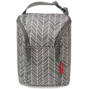 Bolsa Térmica para Mamadeira - Double Bottle Bag (On the Go) Grey Feather - Skip Hop