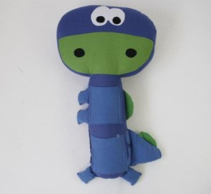 Almofada para Cinto de Segurança Dinossauro Azul - Colo de Mãe