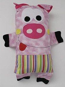 Naninha Travesseiro Porquinha Colorida - Colo de Mãe