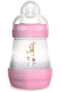 Mamadeira MAM First Bottle Anti-Cólica e Auto-Esterilizável 160ml Menina