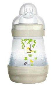 Mamadeira MAM First Bottle Anti-Cólica e Auto-Esterilizável 160ml Bege Neutral