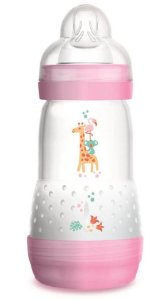 Mamadeira MAM First Bottle Anti-Cólica e Auto-Esterilizável 260ml Menina