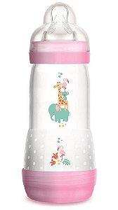 Mamadeira MAM First Bottle Anti-Cólica e Auto-Esterilizável 320ml Menina