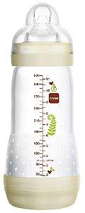 Mamadeira First Bottle Anti-Cólica e Auto-Esterilizável 320ml Bege Neutral - MAM