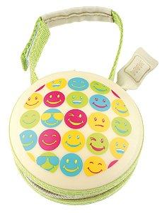 Porta Chupeta Bege e Verde Estampa Emojis - MAM