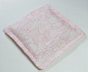 Almofada Térmica de Ervas Naturais para Alívio das Cólicas e Gases Urso Rosa - Bebê sem Cólica