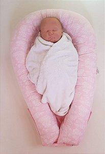 Ninho U-Baby Redutor de Berço Rosa Paris - Colo de Mãe