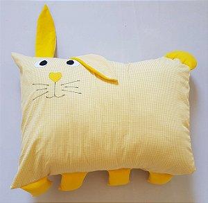 Travesseiro Infantil Coelho Amarelo - Colo de Mãe