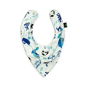 Babador Bandana Baleia Azul - Gumii