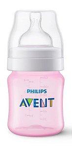 Mamadeira Clássica Anti-Cólica 125ml 0+ Meses Rosa - Philips Avent