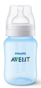 Mamadeira Clássica Anti-Cólica 260ml 1+ Meses Azul - Philips Avent