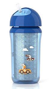Copo Térmico com Canudo 260ml Azul - Philips Avent