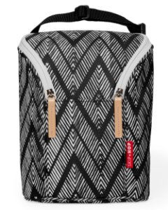 Bolsa Térmica para Mamadeira - Double Bottle Bag (On the Go) Zig Zag Zebra - Skip Hop