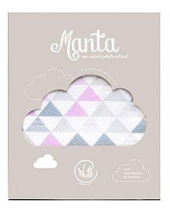 Manta Protetora com Repelente Mosaico Rosa - Nutti