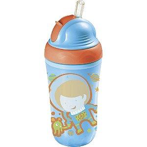 Copo Térmico com Canudo de Silicone Astronauta - Multikids Baby